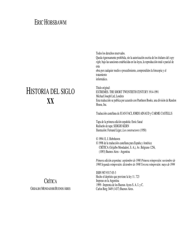 hobsbawn-historia-del-siglo-xx by Chris Hawk - issuu