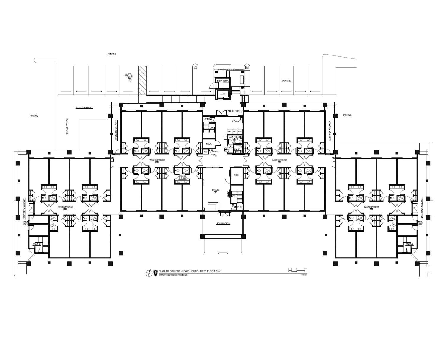 Lewis house floor plan by flagler college issuu for Floor plans lafayette college