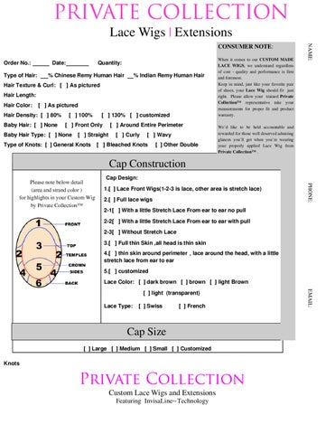 Custom Wig Order Form By Grantech  Issuu