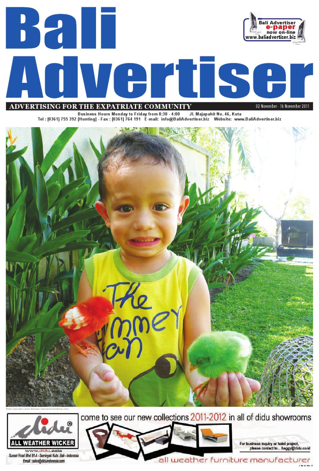 Ba 02 November 2011 By Bali Advertiser Issuu