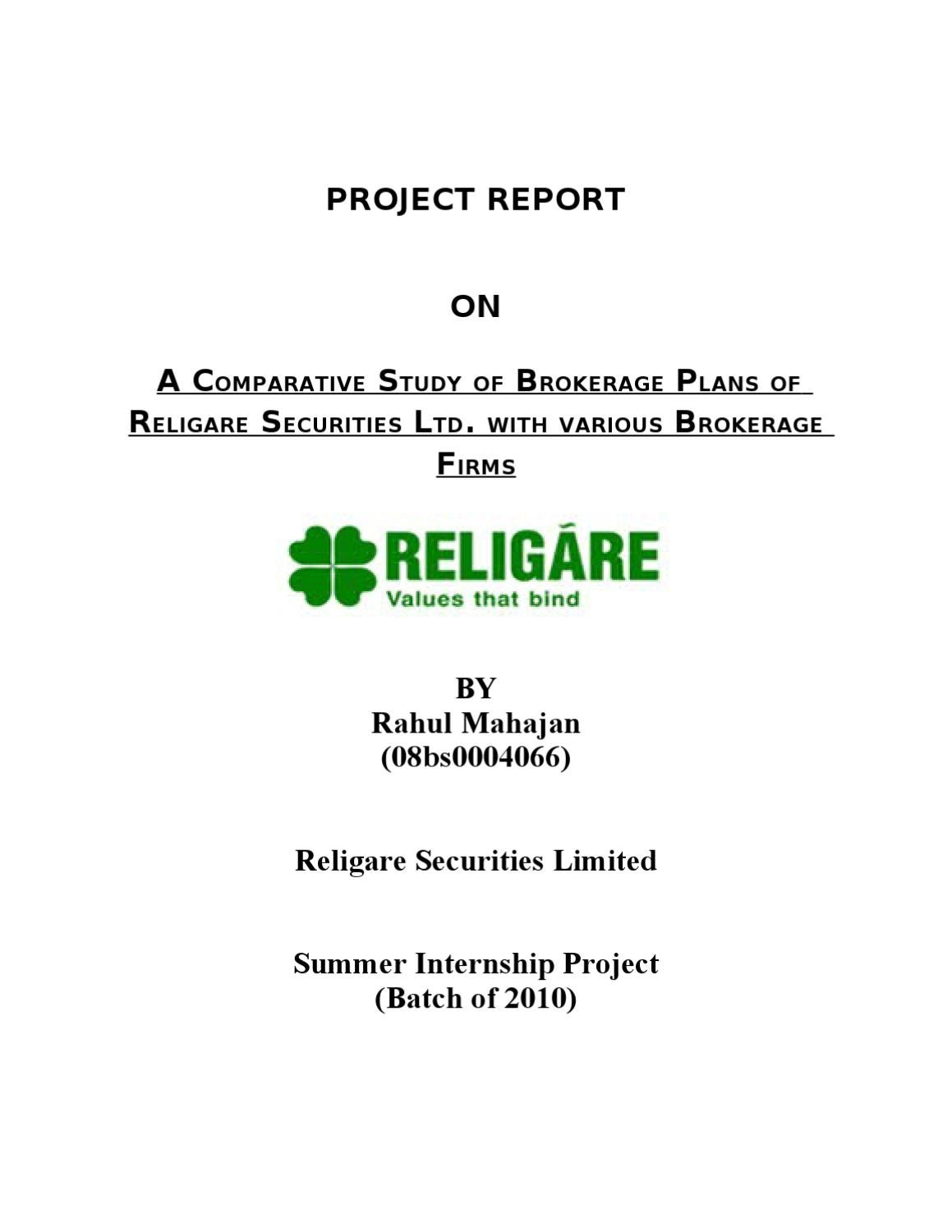 comparative study of religare securities with A comparative study of individual variable insurance contracts (segregated funds) and mutual funds prepared for the canadian securities administrators and the canadian council of insurance regulators may 7, 1999 a executive summary.