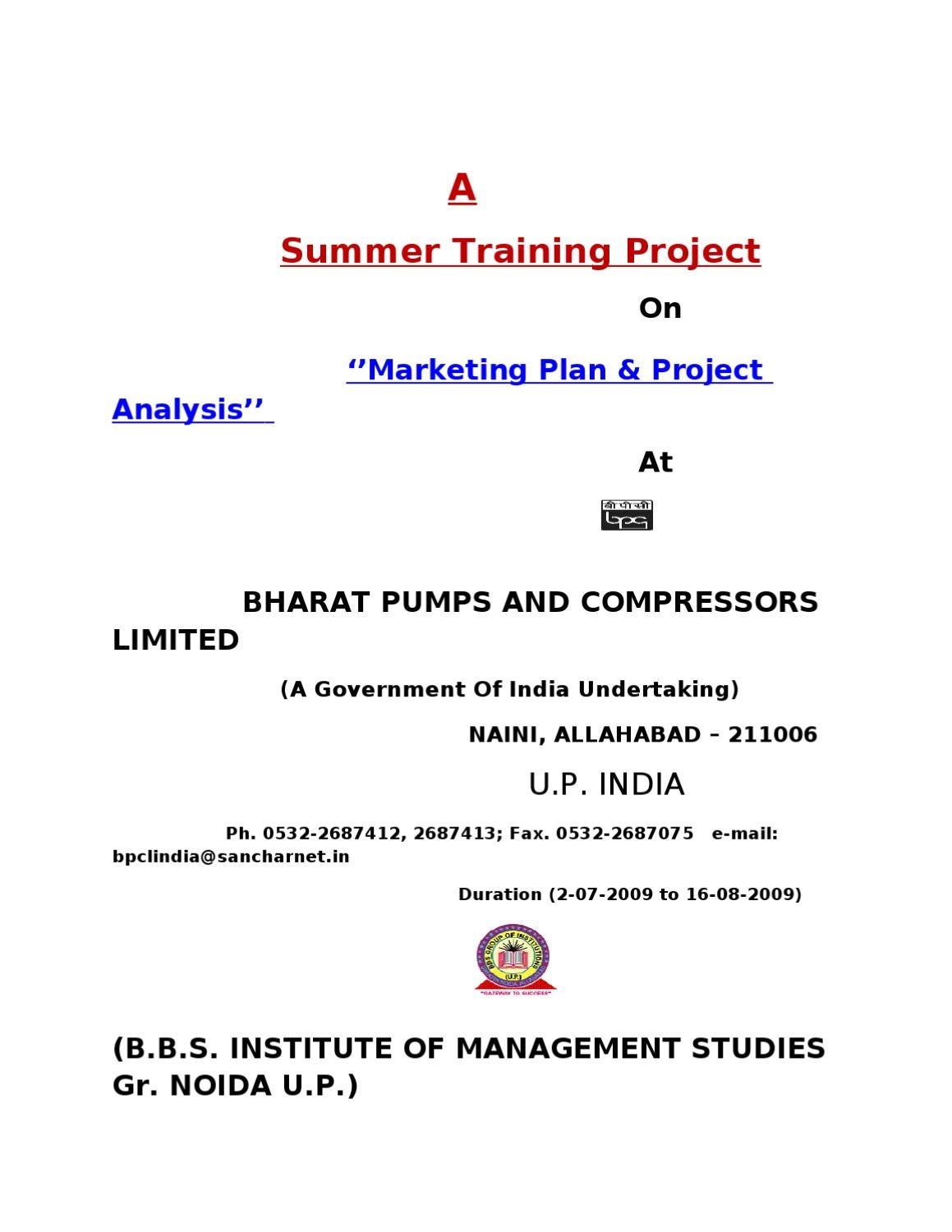 project report on marketing plan of Preparing detailed project report and presenting business plan to investors 1 preparing detailedproject report andpresenting business planto investors.