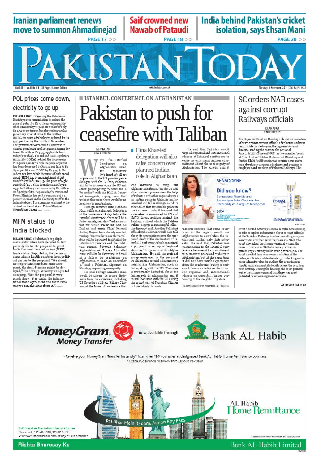 ePaper - 1st November 2011 by Pakistan Today - issuu