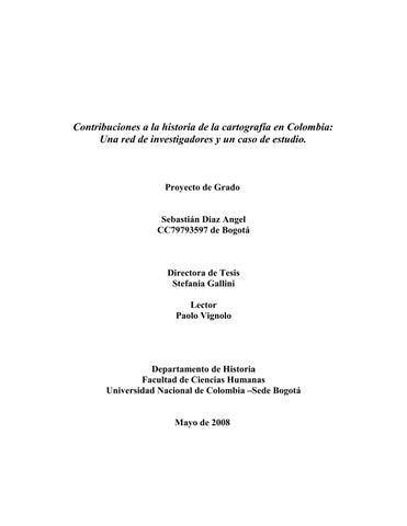 Contribuciones a la historia de la cartografía en Colombia by razon ...
