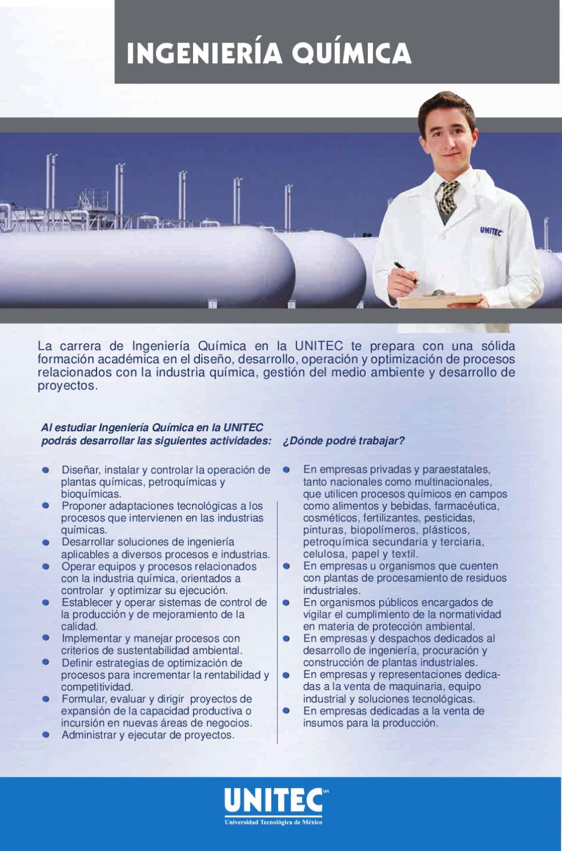Ingeniera Qumica by Universidad Tecnolgica de Mxico UNITEC  issuu