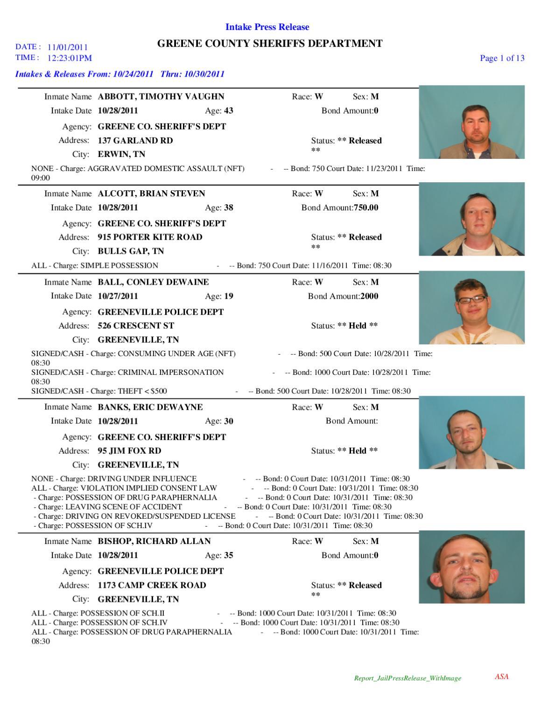 Greene Co  Arrest Report & Mugshots by Innovative