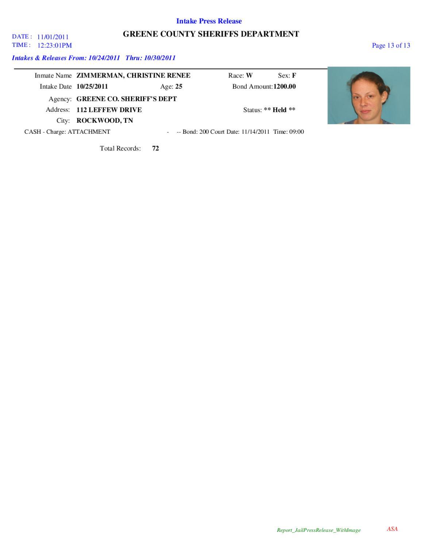 Greene Co  Arrest Report & Mugshots by Innovative Technologies - issuu