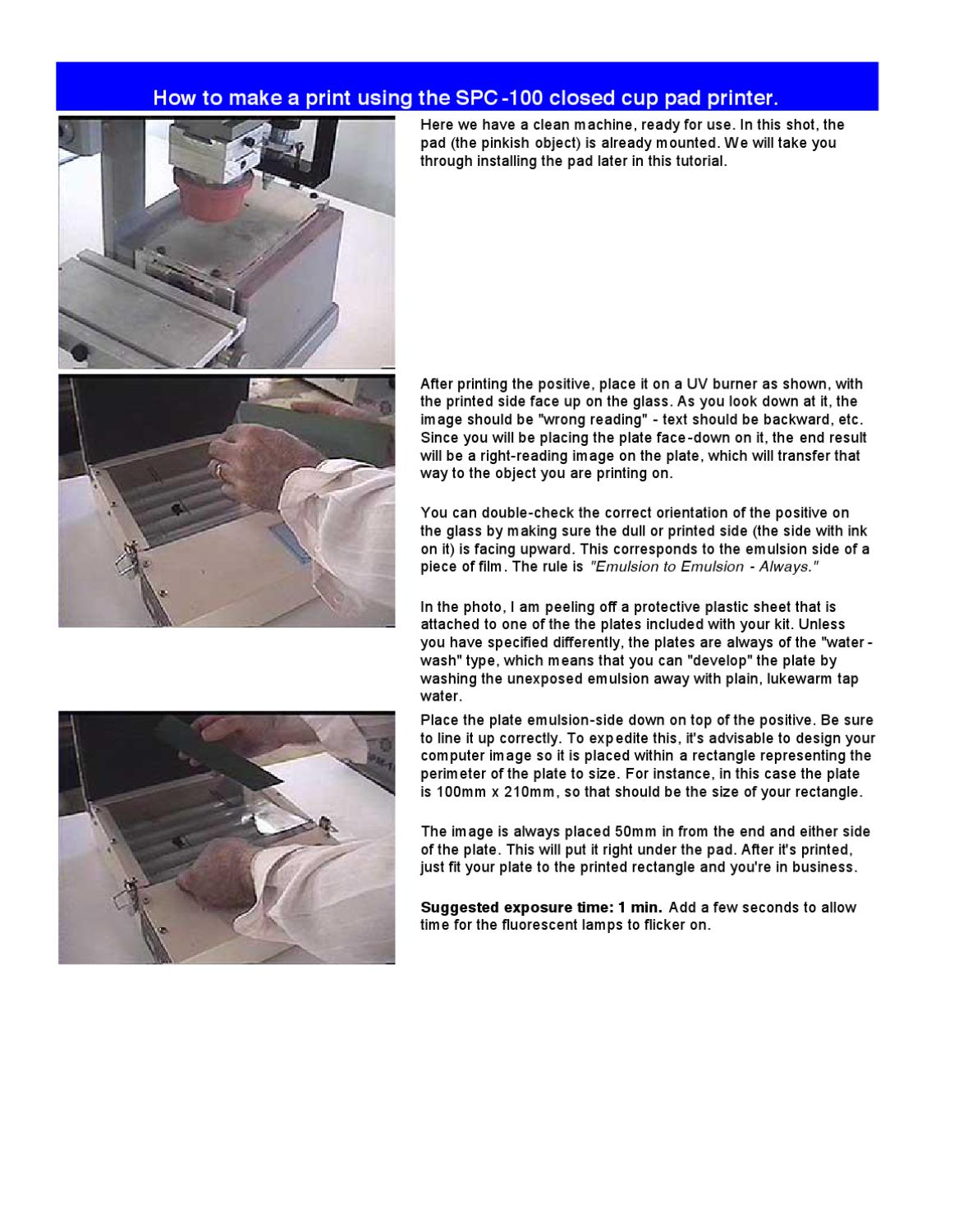 How to Print Using the SPC-100 by All American MFG & Supply