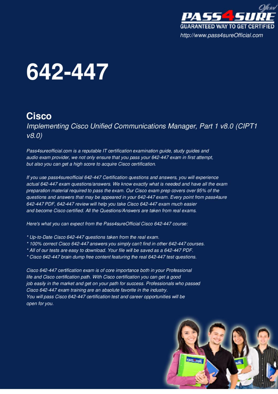 Cisco 642-447 Free PDF by Officialcerts com - issuu