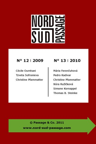 e-Revue Nord-Sud-Passage 2009-2010 by Passage & Co. - issuu
