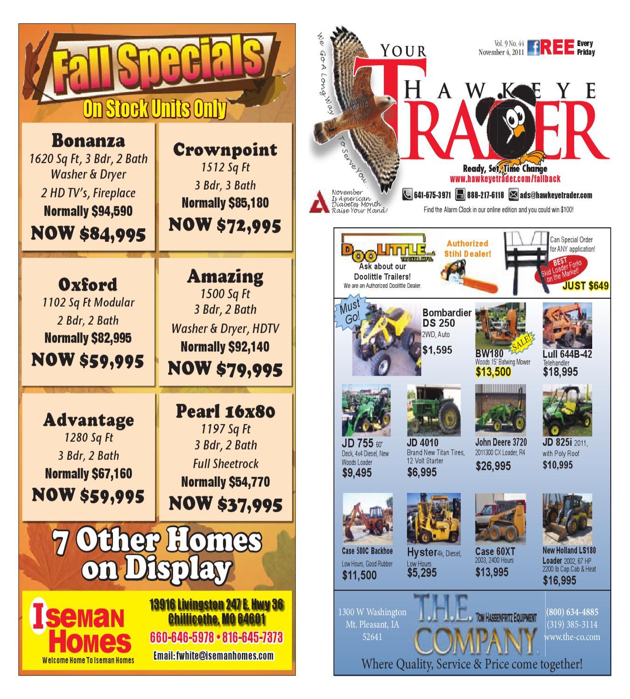 November 04 2011 By Hawkeye Trader Issuu Car Stereo Radio Wiring Harness Oldsmobile 1858 Wire Adapter Plug