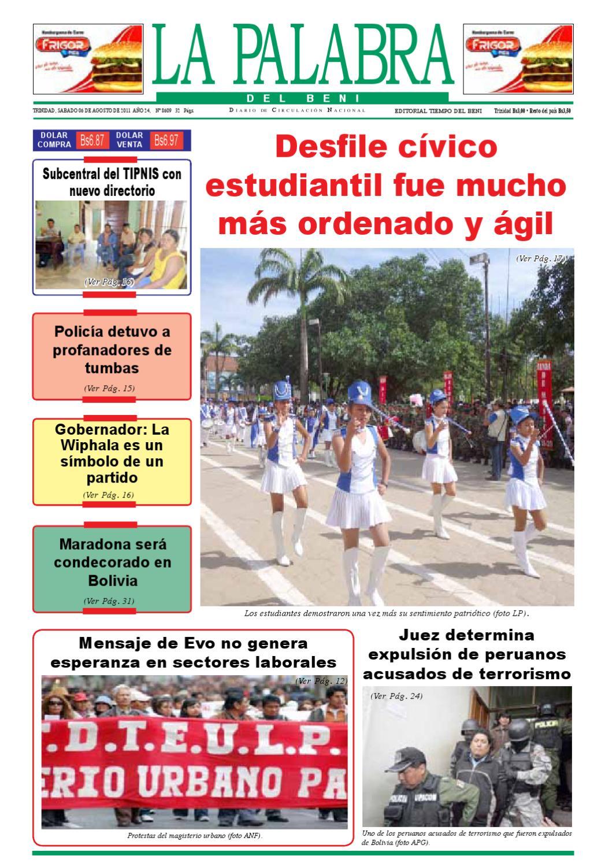 La Palabra Del Beni 06 De Agosto De 2011 By La Palabra Del Beni  # Cea Muebles Paternal