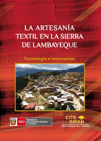 La Artesanía Textil en la Sierra de Lambayeque by CITE SIPAN - issuu 3470f3abcef
