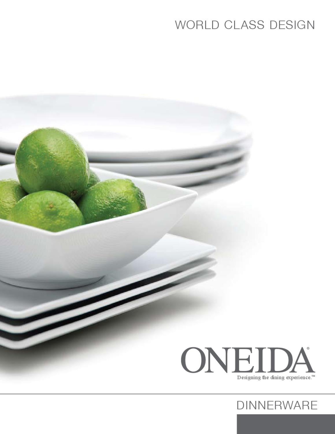 Oneida Dinnerware By Grupo Del Angel Issuu