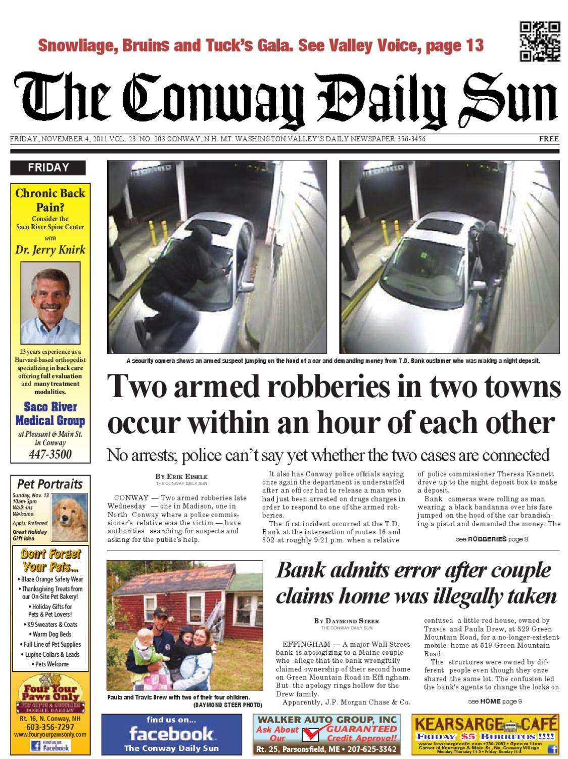 The Conway Daily Sun, Friday, November 4, 2011 by Daily Sun