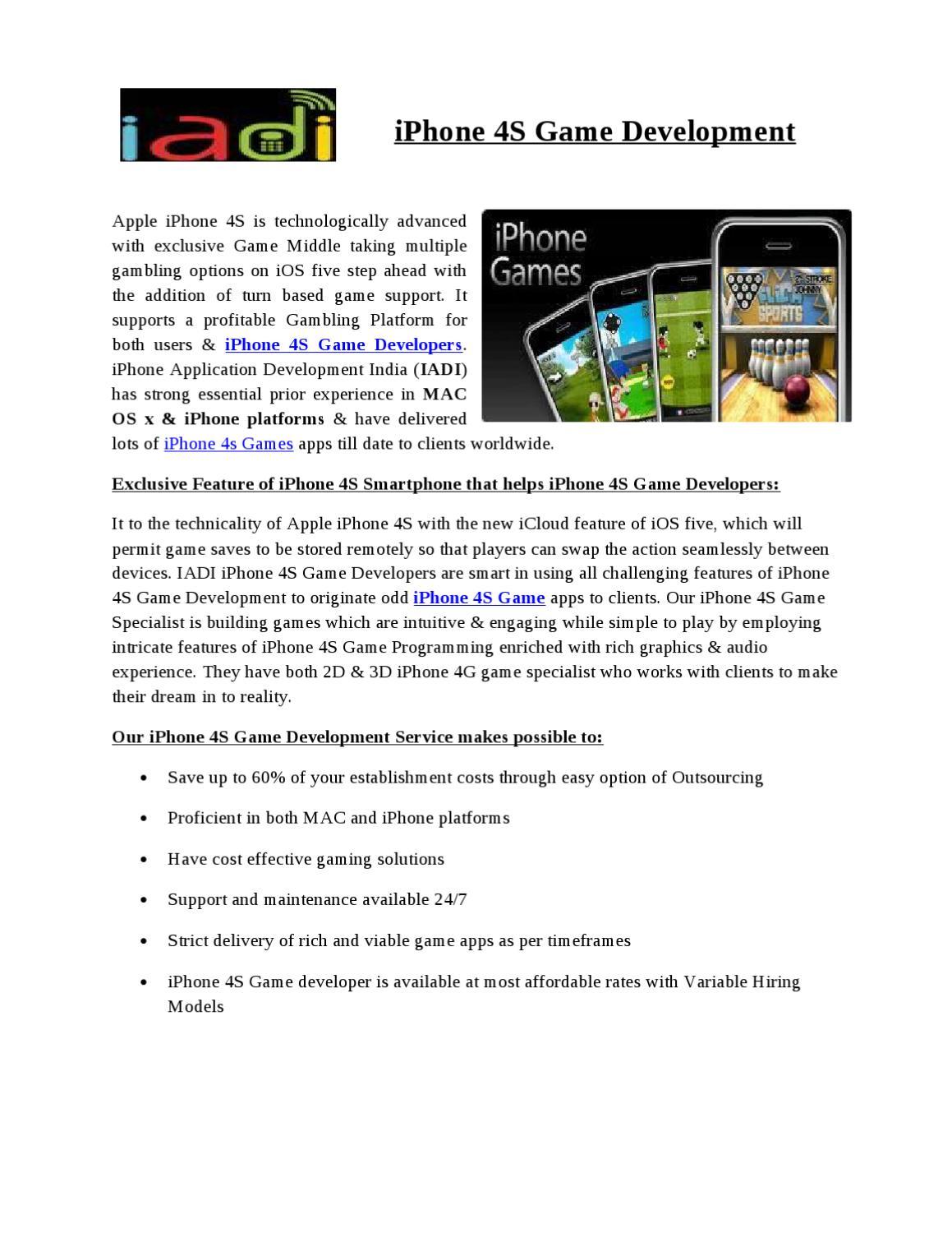 iPhone 4S Game Development by Ryan Lawrence - issuu