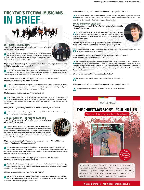 The Renaissance Music Festival Supplement by The Copenhagen