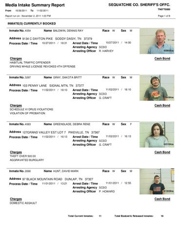 Sequatchie County Mugshots by Innovative Technologies - issuu