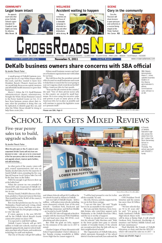 CrossRoadsNews, November 5, 2011