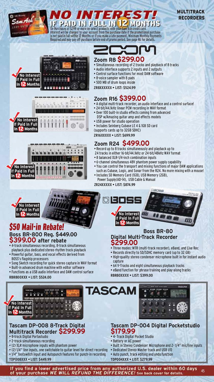 Sam Ash Holiday Gear Guide 2011 by Sam Ash Music Corp  - issuu