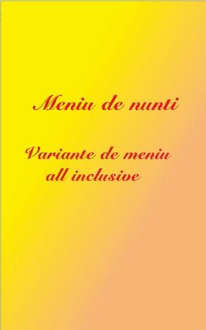 Meniuri Nunta All Inclusive Shorley Restaurant By Shorley