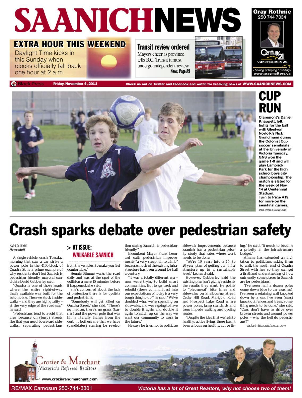 6e8d60ff Nov 4, 2011 SaanichNews by Saanich News - issuu