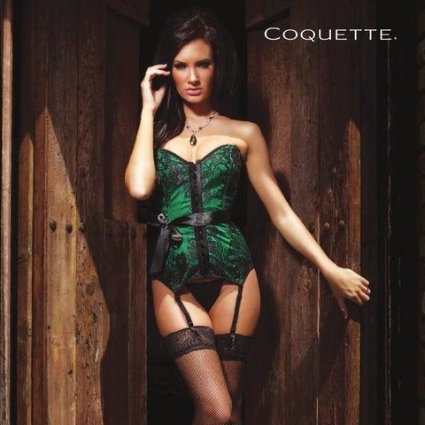 Coquette D9237 Red Wetlook Corset