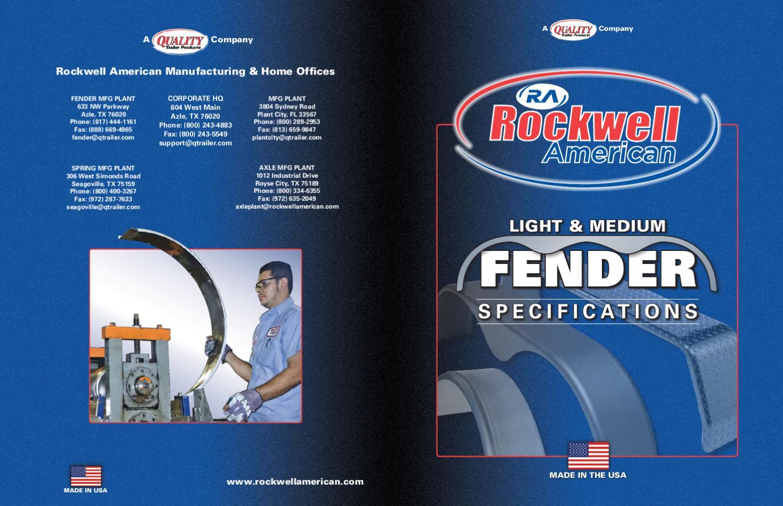 """13/"""" Wheels #2604-1 Rockwell Jeep Style Steel Fender"""