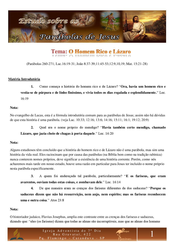 04 O Homem Rico E Lazaro By Raphael Oliveira Issuu