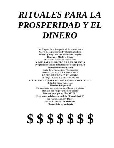 Rituales para la prosperidad y el dinero by gran logia - Rituales para la suerte ...