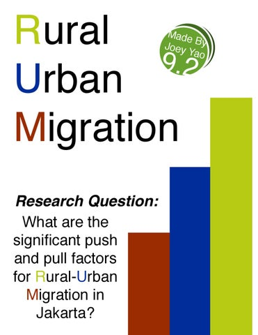 why rural to urban migration