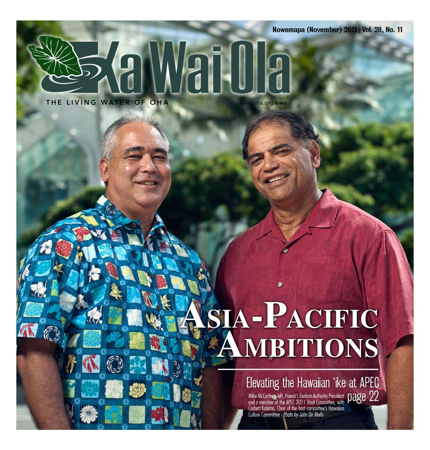 fc53c788 KWO - November 2011 | Vol. 28, No. 11 by Ka Wai Ola o OHA - The Living  Water - issuu