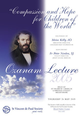 2005 Ozanam Lecture Speech Book By Dianne Ballestrin Issuu
