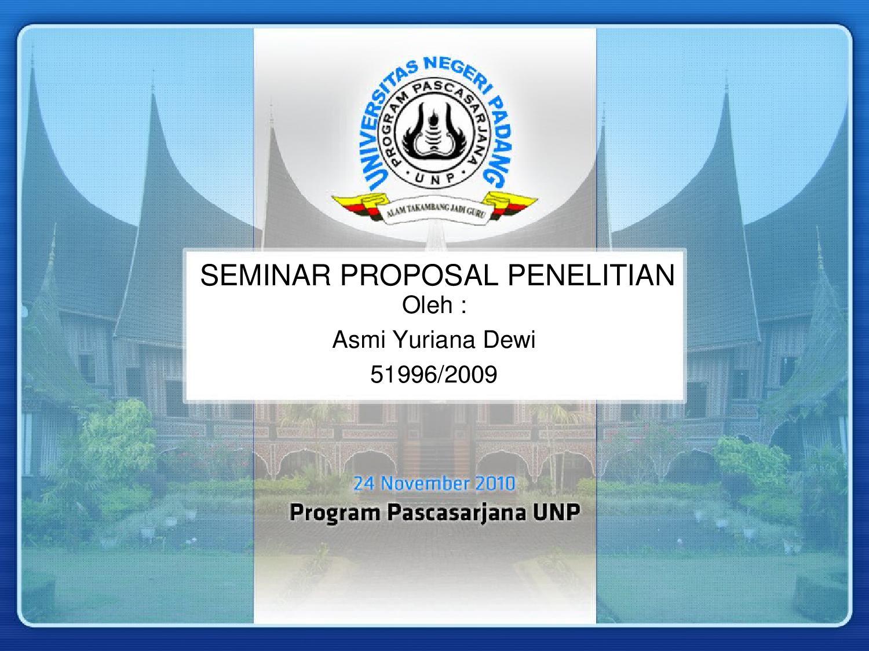 Seminar Proposal Ppt By Rian Hilman Issuu