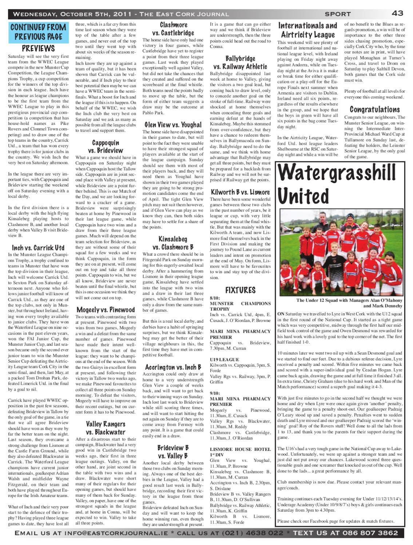 Watergrasshill AC - Publications   Facebook