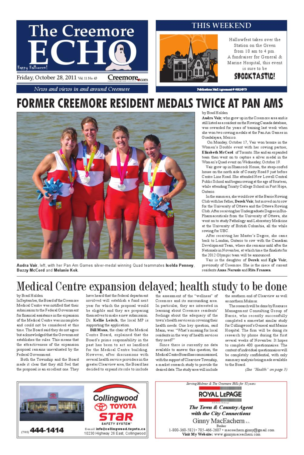 10282011 by the creemore echo issuu