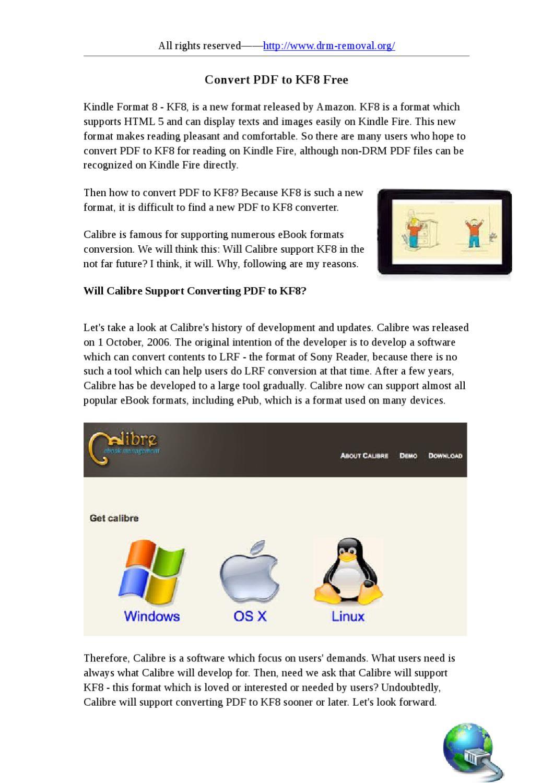 How to Convert PDF to KF8 by jan wke - issuu