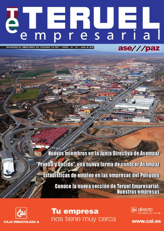Teruel Empresarial N 35 Junio 2010 By Asempaz Asoc De  # Muebles Jover Teruel