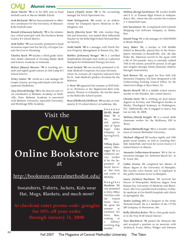 The Talon by Central Methodist University - issuu