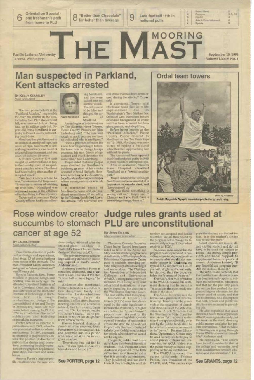 1999-2000 Mooring Mast by Pacific Lutheran University