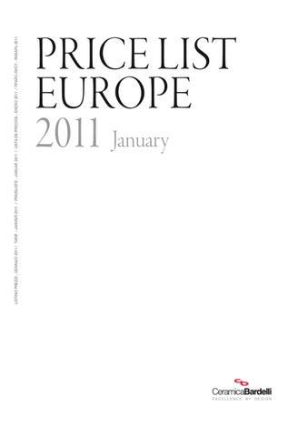 Listino Prezzi Ceramica Bardelli.Bardelli Listino Gennaio 2011 By Materials D Interiors S L Issuu