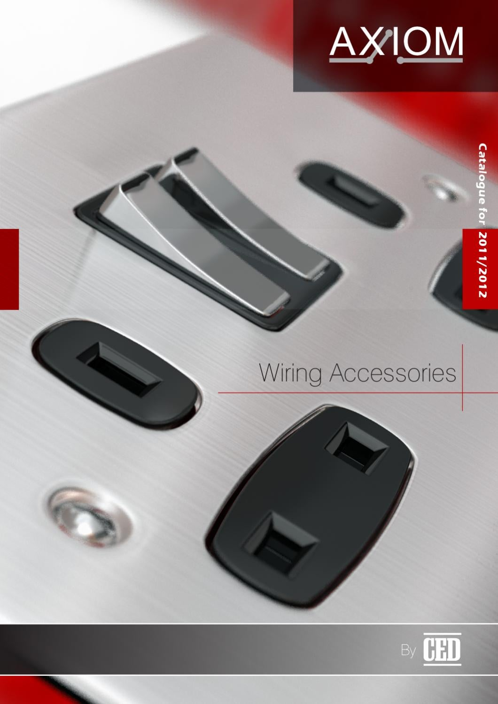 AXIOM Fan Isolator Switch Plate 3 Pole 10Amp Plastic White Square Edge