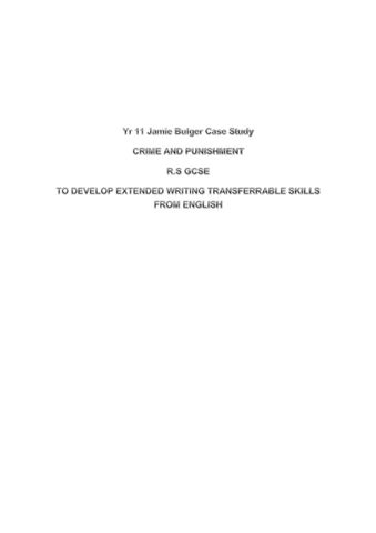 Jamie Bulger And Punishment Essays By Chris Steadmansouth  Issuu This Essay Will Explain The Murder And Punishment Of James Bulger In   By Two Boys Aged  He Was The Second Child To Be Snatched From A Shopping  Centre  Marriage Essay Papers also The Yellow Wallpaper Critical Essay  Paper Vs Essay