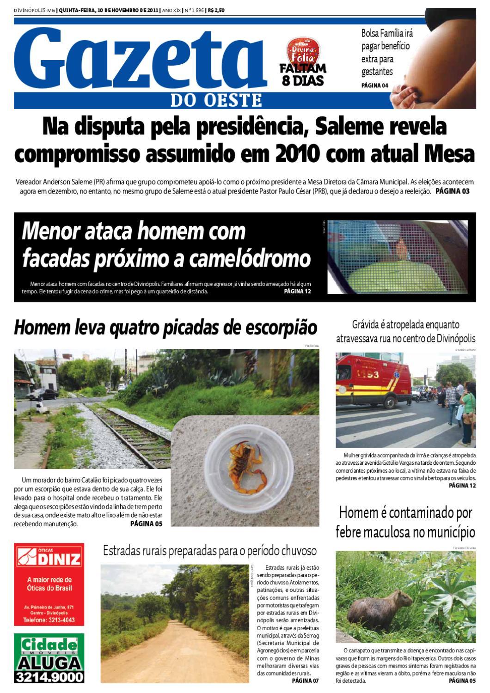 0de2d2fa518bf Gazeta do Oeste by Dacio Fernandes - issuu