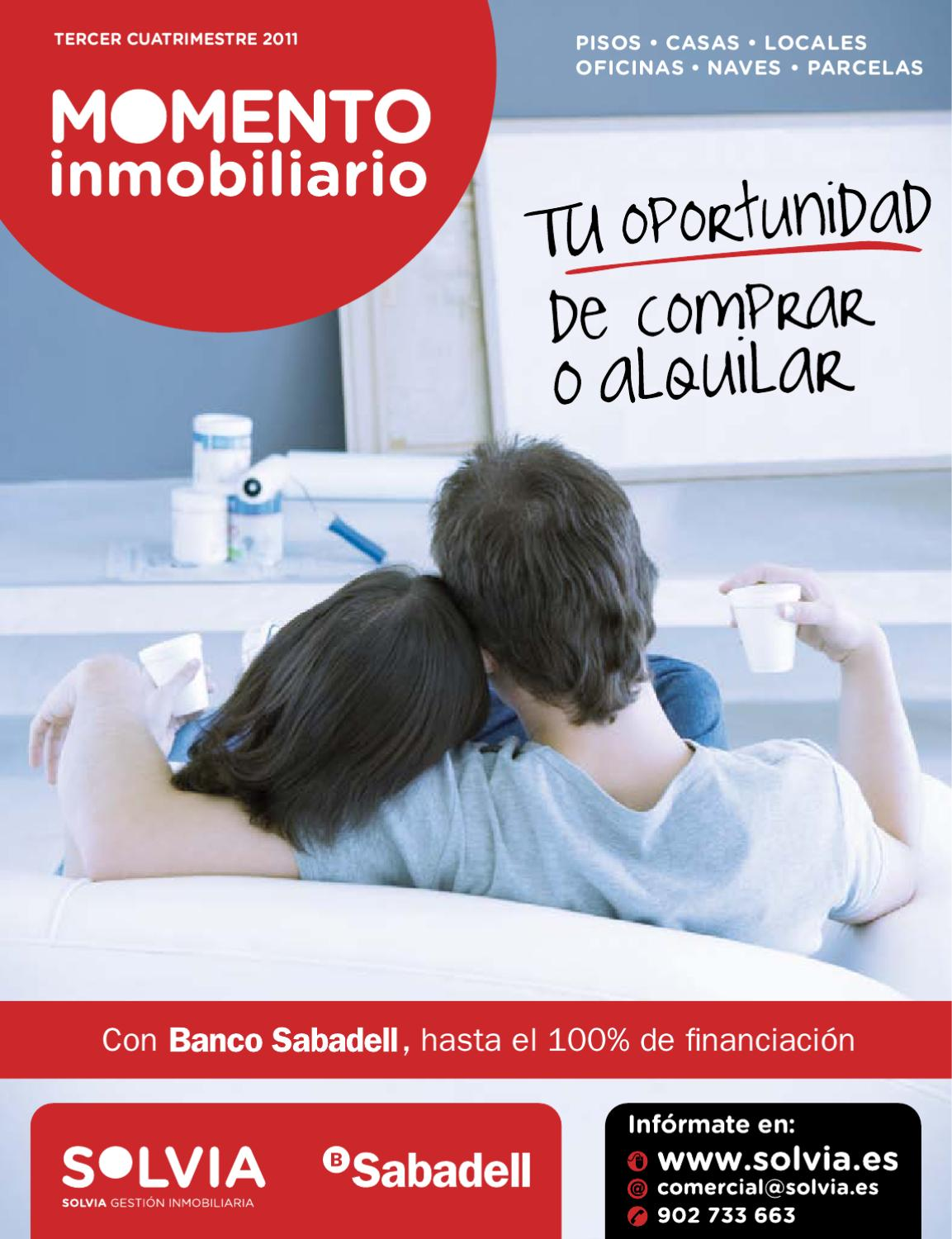 Momento inmobiliario solvia 3q11 by banco sabadell issuu for Pisos de banco sabadell