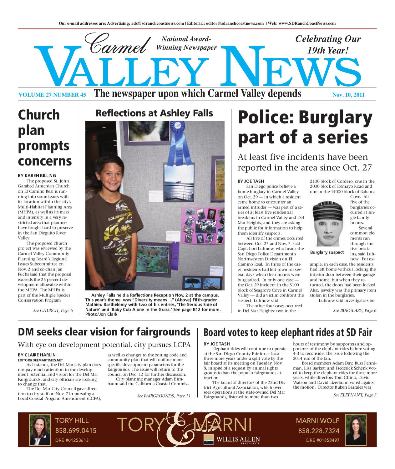 11 10 2011 carmel valley news by mainstreet media issuu fandeluxe Choice Image
