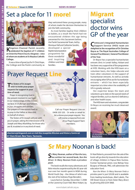 Tasmanian Catholic - Volume 4 Issue 6 2008 by AOH TAS - issuu