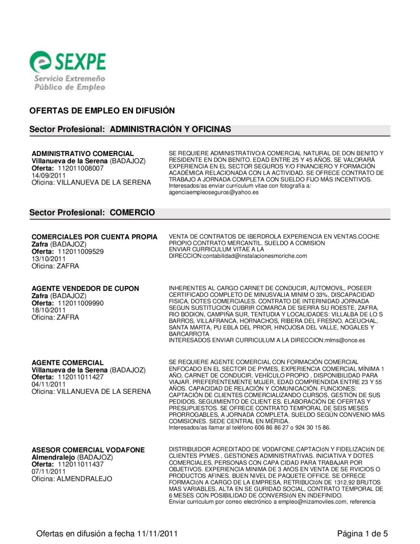 Ofertas empleo Sexpe by Centro Joven Logrosán - issuu