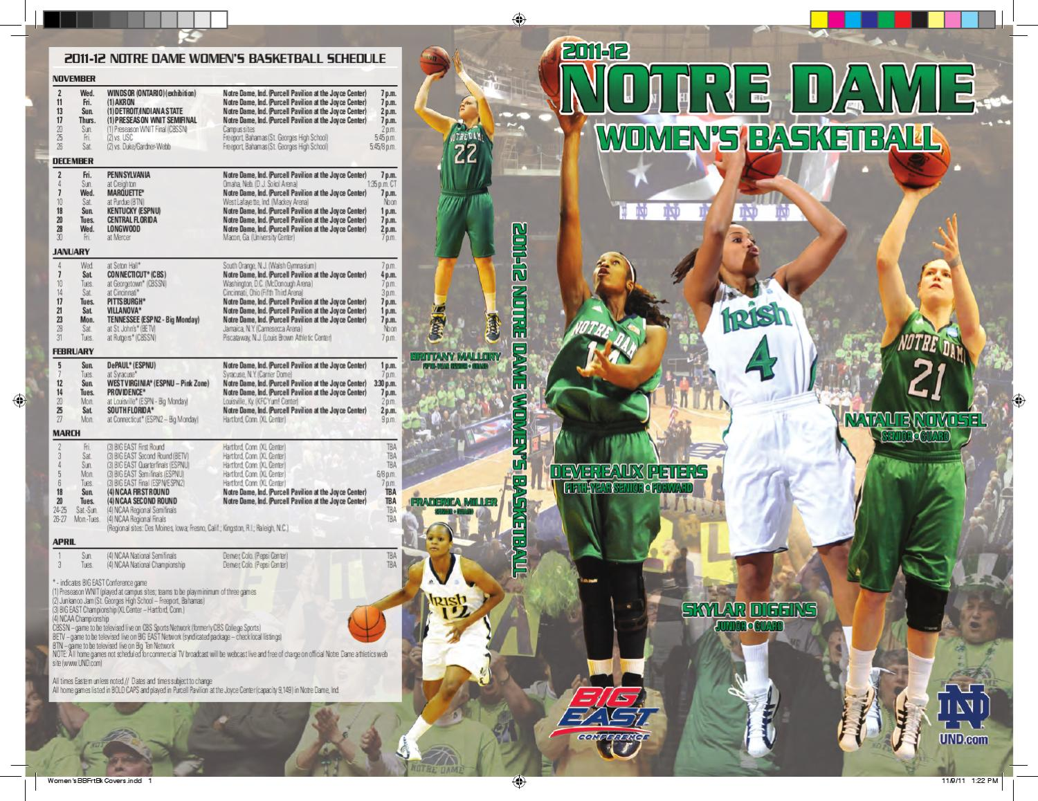 381b66570 2011-12 Notre Dame Women s Basketball Media Guide by Chris Masters - issuu