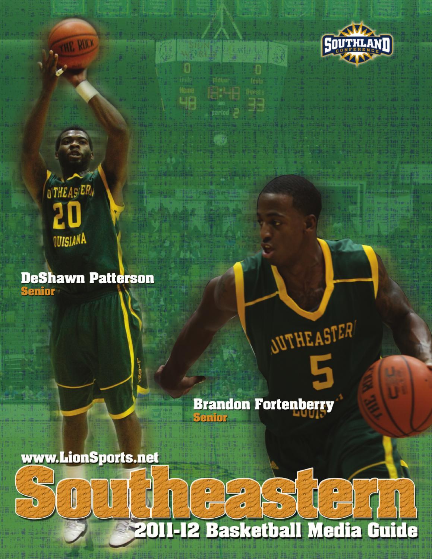 2011 12 Southeastern Louisiana University Mens Basketball Media Guide By Athletics